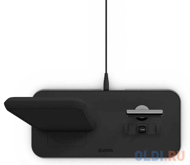 Беспроводное зарядное устройство ZENS Stand+Dock Aluminium Wireless Charge. Цвет черный. зарядное устройство momax q dock wireless ud2 white
