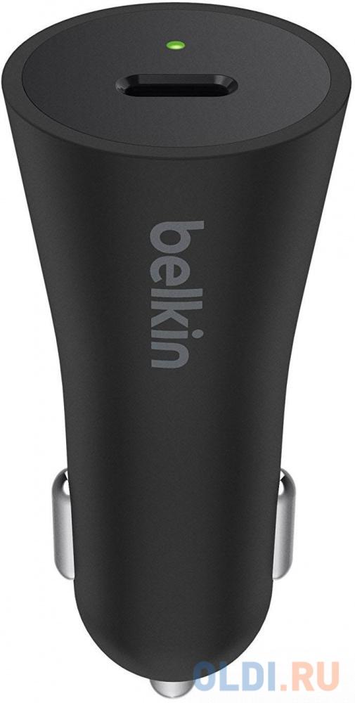 Автомобильное зарядное устройство Belkin F7U026bt04-BLK 3А USB-C черный