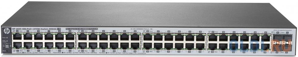 Коммутатор HP 1820-48G-PoE+ управляемый 48 портов 10/100/1000Mbps 4хSFP J9984A