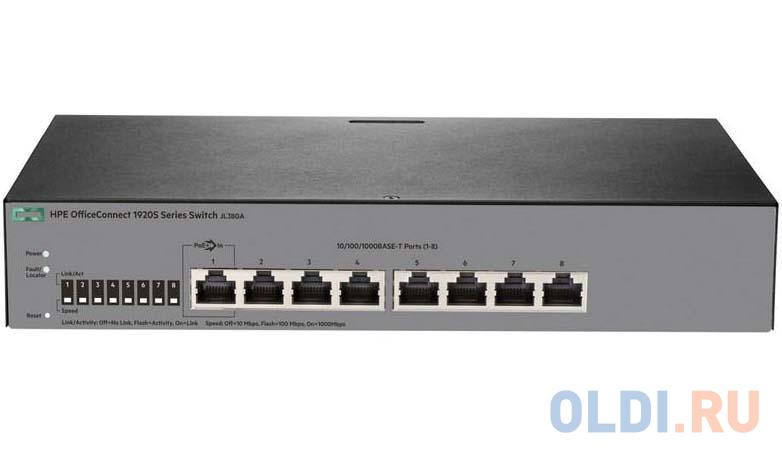 Коммутатор HP 1920S управляемый 8 портов 10/100/1000Mbps JL380A коммутатор cisco sg110d 08hp 8 портов 10 100 1000mbps