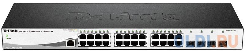Фото - Коммутатор D-LINK DGS-1210-28/ME/A1A/A2A 24-порта 10/100/1000BASE-T/Mini GBIC SFP модуль sfp d link 310gt a1a lc 1310nm