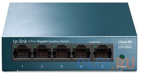Фото - Коммутатор TP-LINK LS105G 5-портовый 10/100/1000 Мбит/с настольный коммутатор коммутатор tp link tl sf1008d 8 портовый 10 100 мбит с настольный коммутатор