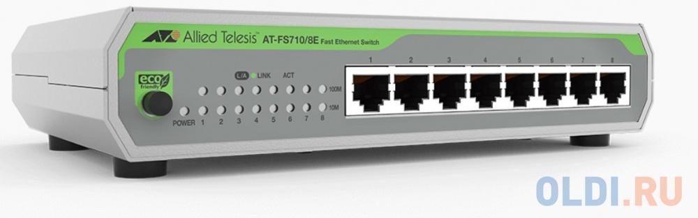 Фото - Коммутатор Allied Telesis AT-FS710/8E-60 8x100Mb неуправляемый трансивер allied telesis at sptx
