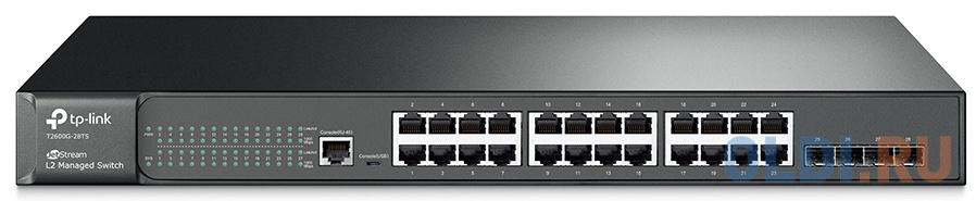 JetStream™ 24-port Pure-Gigabit L2 Managed Switch, 24 10/100/1000Mbps RJ45 ports including 4 Gigabit SFP slots, 1U 19-inch rack-mountable steel case tp link uh400 usb 4 ports