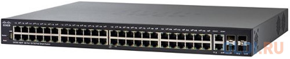 Коммутатор [SF250-48-K9-EU] Cisco SB SF250-48 48-port 10/100 Switch коммутатор cisco sf110d 16hp 16 port 10 100 poe desktop switch