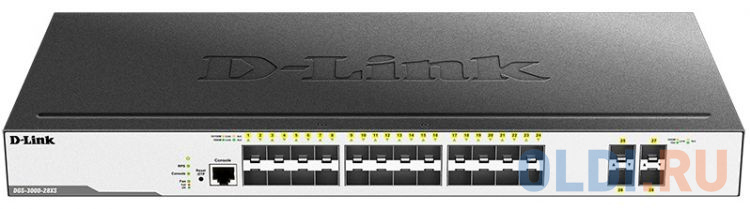 Фото - Коммутатор D-Link DGS-3000-28XS DGS-3000-28XS/B1A 24SFP 4SFP+ управляемый коммутатор d link dgs 3000 28xs dgs 3000 28xs b1a 24sfp 4sfp управляемый
