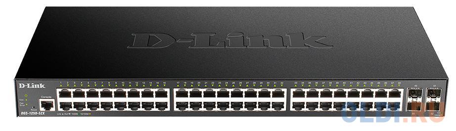 Фото - Коммутатор D-Link DGS-1250-52X/A1A 48G 4SFP+ настраиваемый коммутатор d link dgs 1250 52xmp a1a
