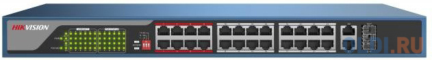 Коммутатор Hikvision DS-3E0326P-E 24-ports 10/100Mbps.