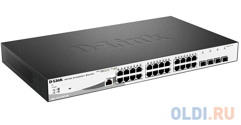 Фото - Коммутатор D-LINK DGS-1210-28P/ME/A1A управляемый 24 порта 10/100/1000BASE-T PoE+ коммутатор d link dgs 1100 24 me b2a управляемый 24 порта 10 100 1000mbps easysmart