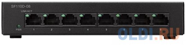 Коммутатор Cisco SF110D-08-EU 8 портов 10/100Mbps