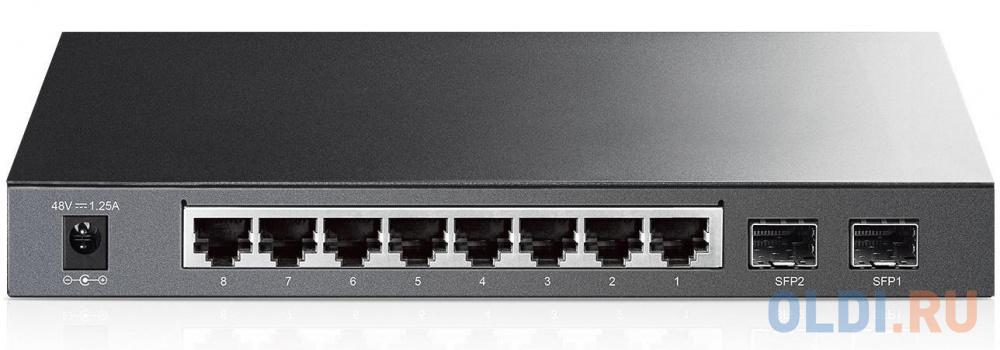 Коммутатор TP-LINK TL-SG2210P управляемый 8 портов 10/100/1000Mbps 8x6.6W PoE 2xSFP