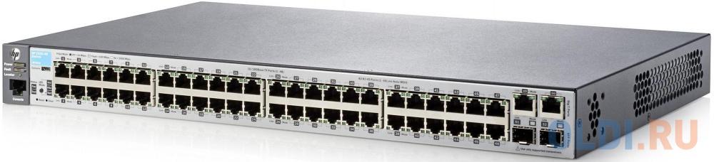 Коммутатор HP 2530-48 управляемый 48 портов 10/100Mbps 2x10/100/1000Mbps 2xSFP J9781A коммутатор cisco srw2016 k9 eu управляемый 20 портов 10 100 1000mbps 2xsfp