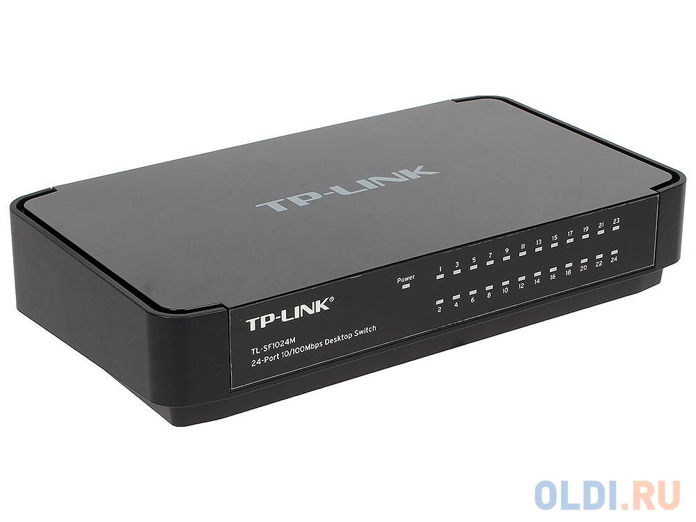 Фото - Коммутатор TP-LINK TL-SF1024M 24-портовый 10/100 Мбит/с настольный коммутатор коммутатор tp link tl sf1008d 8 портовый 10 100 мбит с настольный коммутатор