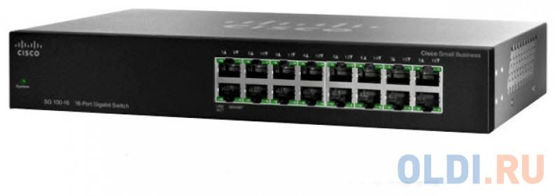 Коммутатор Cisco SF110-16-EU неуправляемый 16 портов 10/100Mbps
