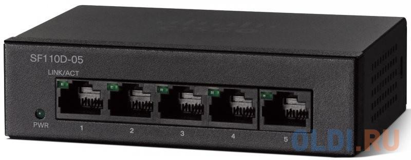Коммутатор Cisco SF110D-05-EU 5 портов 10/100Mbps