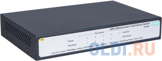 Фото - Коммутатор HP JH328A HPE 1420 5G PoE+ (32W) Switch коммутатор hp 1420 jh330a коммутатор hp hpe 1420 8g poe 64w switch