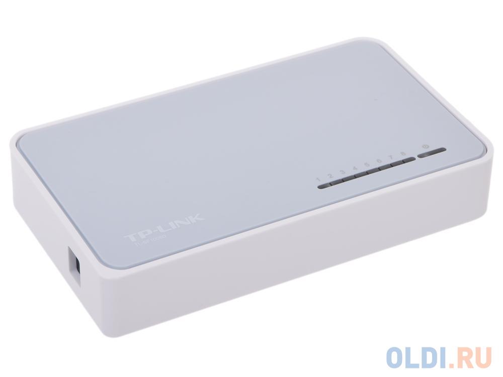 Фото - Коммутатор TP-LINK TL-SF1008D 8-портовый 10/100 Мбит/с настольный коммутатор коммутатор tp link tl sf1008d 8 портовый 10 100 мбит с настольный коммутатор