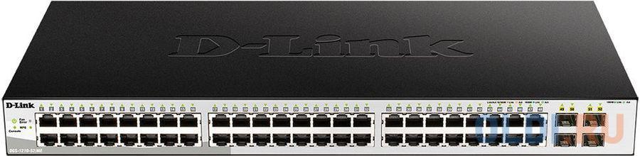 Фото - Коммутатор D-Link DGS-1210-52MP/ME DGS-1210-52MP/ME/B1A 48G 4SFP 48PoE 370W управляемый коммутатор d link dgs 3000 28xs dgs 3000 28xs b1a 24sfp 4sfp управляемый