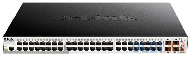 Фото - Коммутатор D-Link DGS-1510-52XMP/A1A Настраиваемый стекируемый коммутатор SmartPro уровня 2+ с 48 портами 10/100/1000Base-T и 4 портами 10GBase-X SFP+ коммутатор d link dgs 1250 52xmp a1a