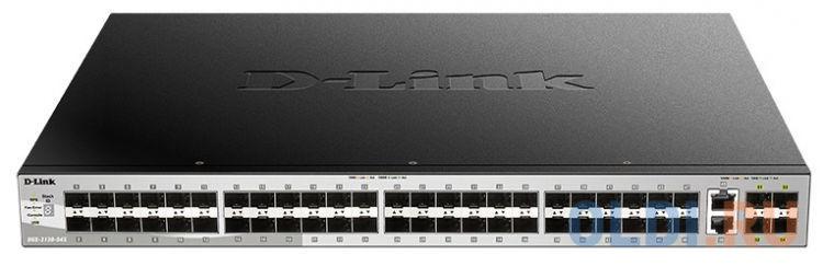 Коммутатор D-Link DGS-3130-54S/A1A Управляемый стекируемый коммутатор 3 уровня с 48 портами 1000Base-X SFP, 2 портами 10GBase-T и 4 портами 10GBase-X коммутатор d link dgs 3130 30s a1a