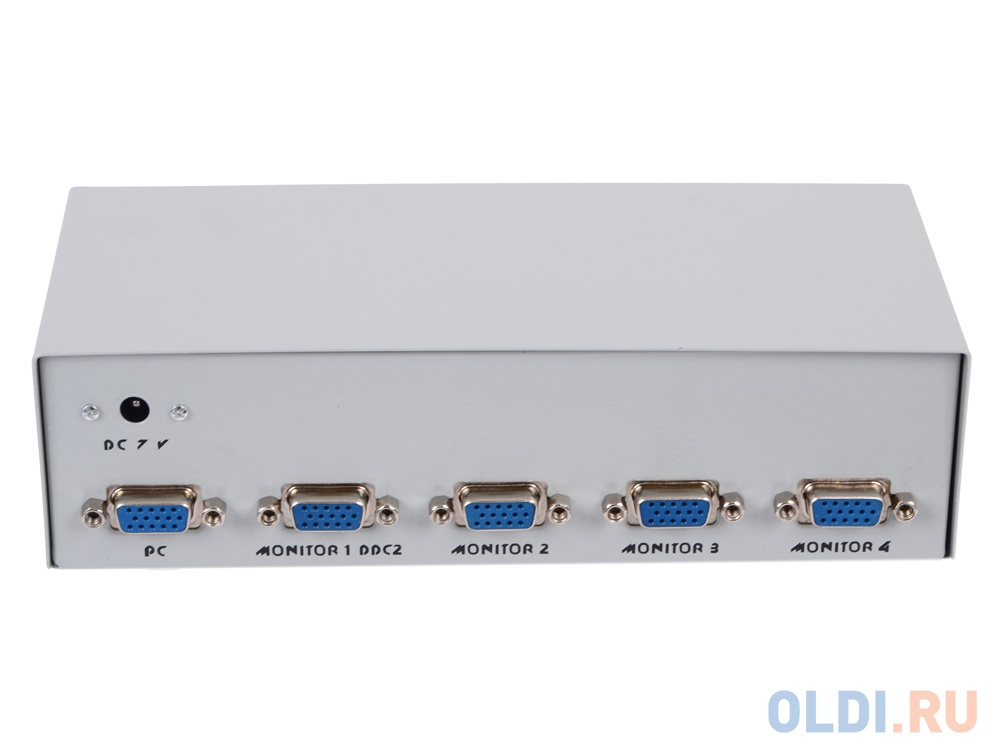 Переключатель KVM ATEN PS2/USB+VGA =)  4 cpu PS2/USB+VGA  2048x1536 настол. исп.стандарт.шнуры без OSD (CS84U-AT)