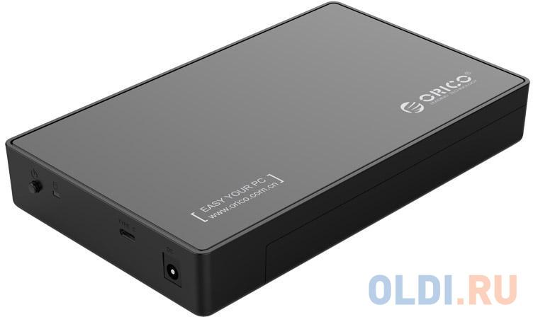 "Внешний контейнер для HDD 3.5"" SATA Orico 3588C3-BK USB 3.0 Type C черный"