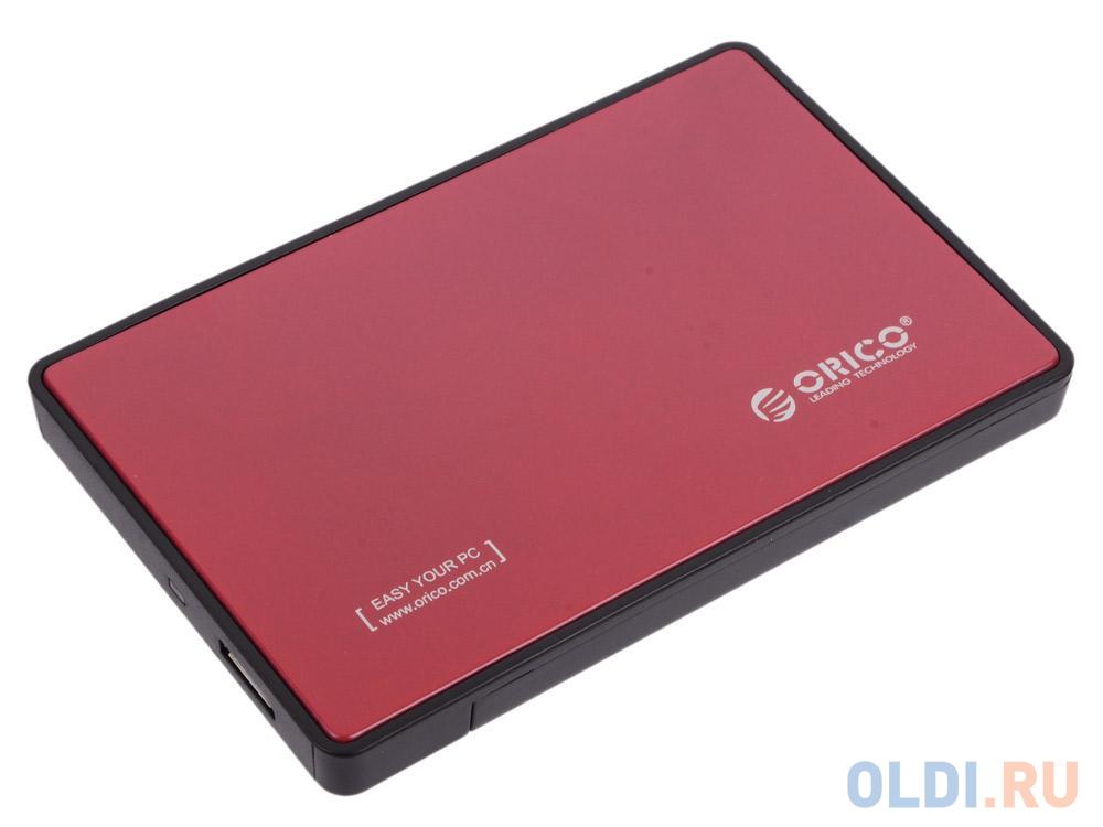 Фото - Внешний контейнер для HDD 2.5 SATA ORICO 2588US3-RD USB3.0 красный корпус 2 5 orico 2588us3 sata usb3 0 black