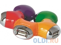 Концентратор USB 2.0 Konoos UK-07 Цветок концентратор usb 2 0 konoos uk 02 фрегат 4 порта