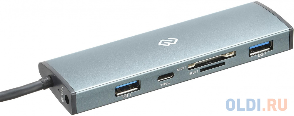Разветвитель USB Type-C Digma HUB-2U3.0СCR-UC-G 2 х USB 3.0 USB Type-C SD/SDHC microSD серый разветвитель usb type c hama aluminium 00135759 sd sdhc microsd usb type c 2 х usb 3 0 серебристый