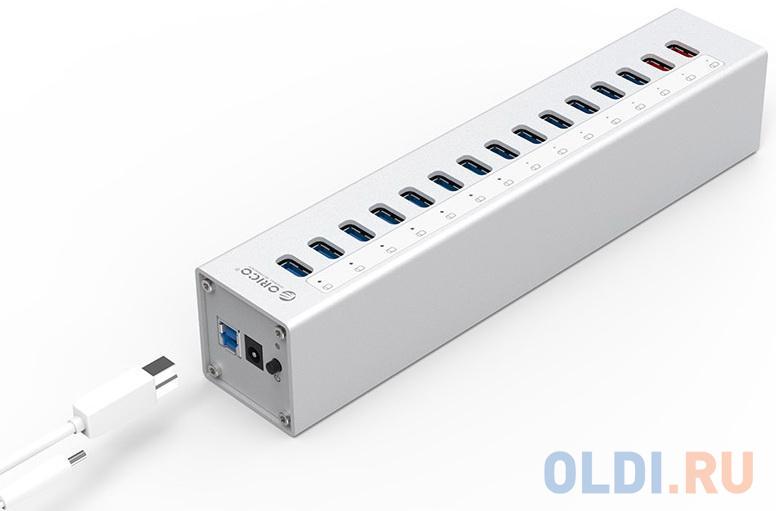 Концентратор USB 3.0 Orico A3H13P2 USB 3.0 серебристый