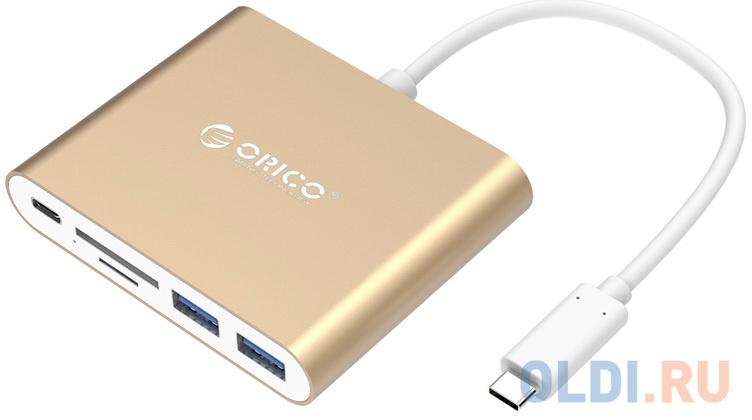 USB-концентратор Orico RCC2A-GD (TF *1, SD *1, USB Type-C *1, USB Type-A*2)/USB Type-C недорого