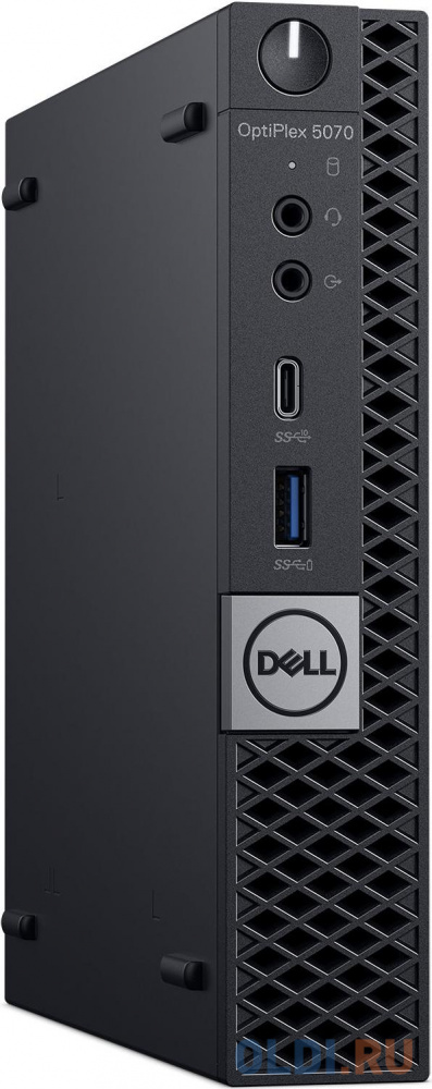 ПК Dell Optiplex 5070 Micro i7 9700T (2)/8Gb/1Tb 7.2k/SSD256Gb/UHDG 630/Windows 10 Professional 64/GbitEth/WiFi/BT/90W/клавиатура/мышь/черный