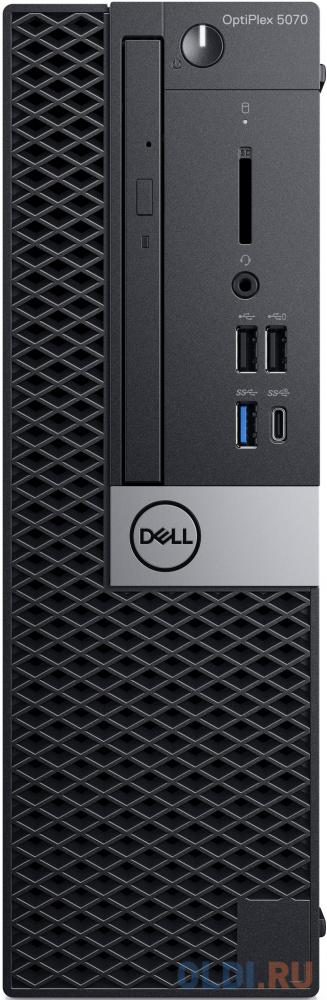 ПК Dell Optiplex 5070 SFF i5 9500 (3)/8Gb/SSD256Gb/UHDG 630/DVDRW/Linux Ubuntu/GbitEth/200W/клавиатура/мышь/черный пк dell precision 3630 mt i7 8700 3 2 16gb ssd512gb p620 2gb dvdrw linux ubuntu gbiteth 460w клавиатура мышь черный