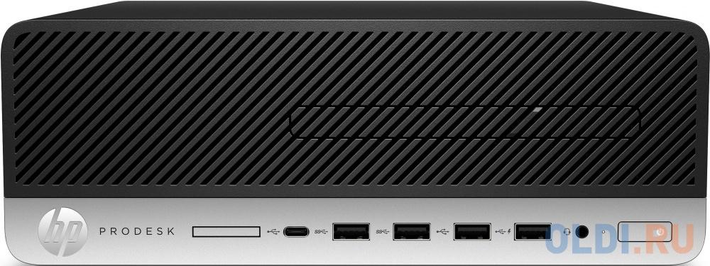 ПК HP ProDesk 405 G4 SFF Ryzen 5 PRO 2400G (3.6)/8Gb/SSD256Gb/Vega 11/DVDRW/CR/Windows 10 Professional 64/GbitEth/180W/клавиатура/мышь/черный