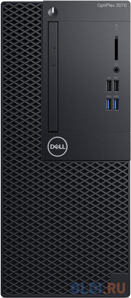 ПК Dell Optiplex 3070 MT i5 9500 (3)/8Gb/SSD256Gb/UHDG 630/DVDRW/Windows 10 Professional 64/GbitEth/260W/клавиатура/мышь/черный пк dell precision 3630 mt i7 8700 3 2 16gb ssd512gb p620 2gb dvdrw linux ubuntu gbiteth 460w клавиатура мышь черный