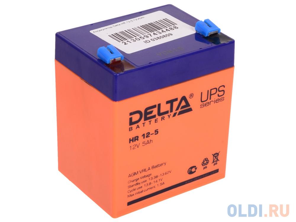 Аккумулятор Delta HR 12-5 12V5Ah delta акб delta moto ct 1207 agm ytx7a bs 7ач п п