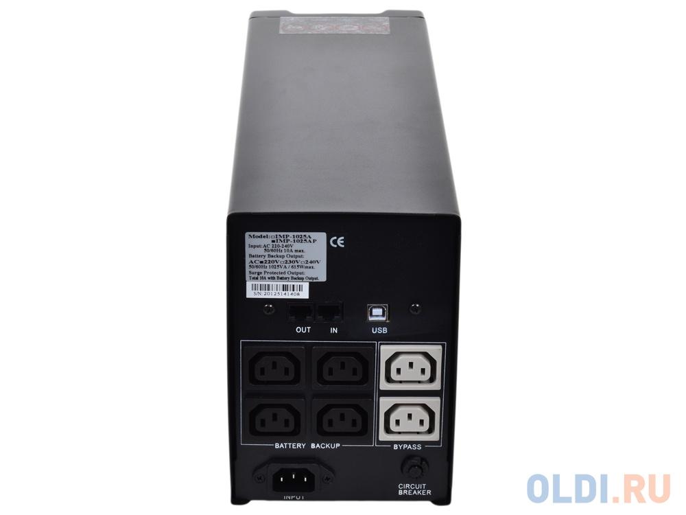 ИБП Powercom IMP-1025AP Imperial 1025VA/615W USB,AVR,RJ11,RJ45 (4+2 IEC)
