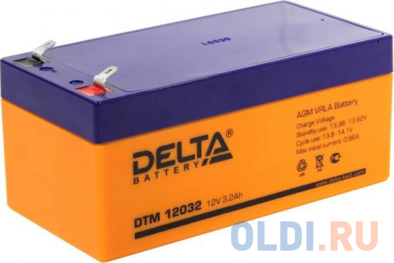 Аккумулятор Delta DTM 12032 12V3.2Ah