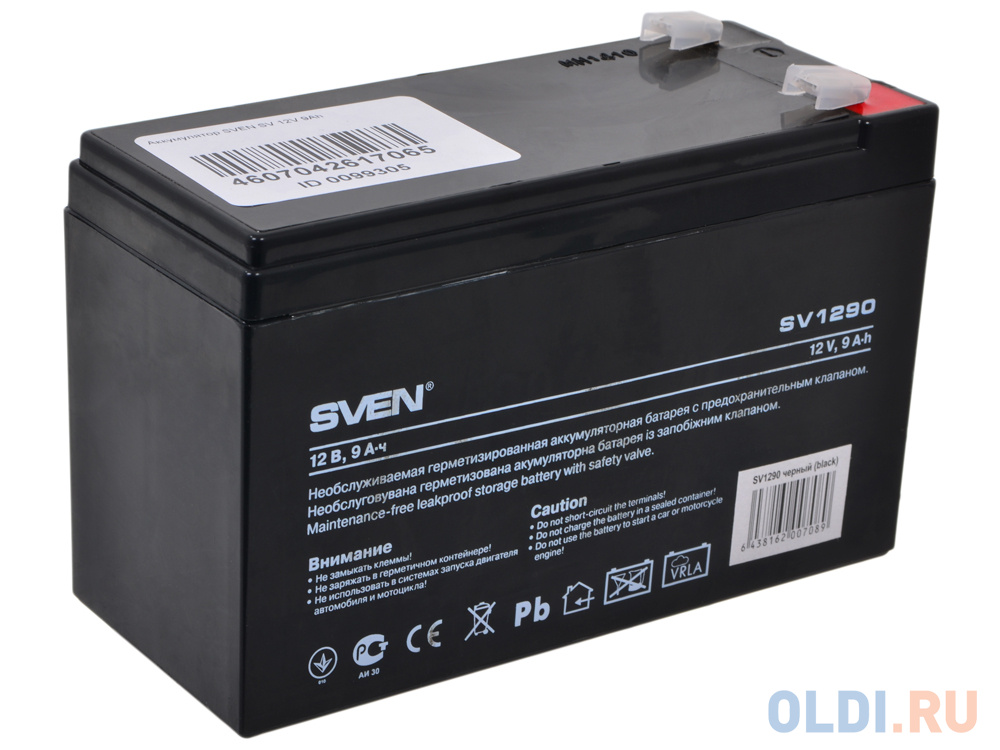 Аккумулятор SVEN SV 12V9Ah