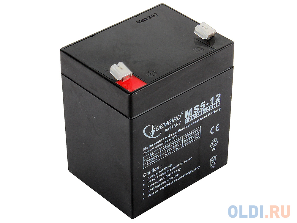 """Аккумулятор для ИБП """"Gembird"""" BAT-12V5AH"""