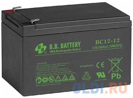 Батарея для ИБП BB BC 12-12 12В 12Ач батарея для ибп bb battery hr5 8 12
