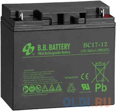 Батарея для ИБП BB BC 17-12 12В 17Ач батарея для ибп bb battery hr5 8 12