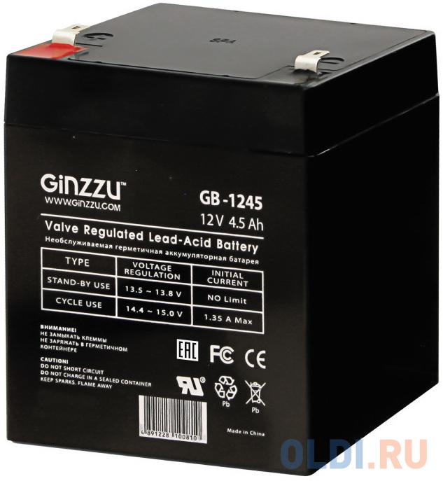 Батарея Ginzzu GB-1245 12V/4.5Ah