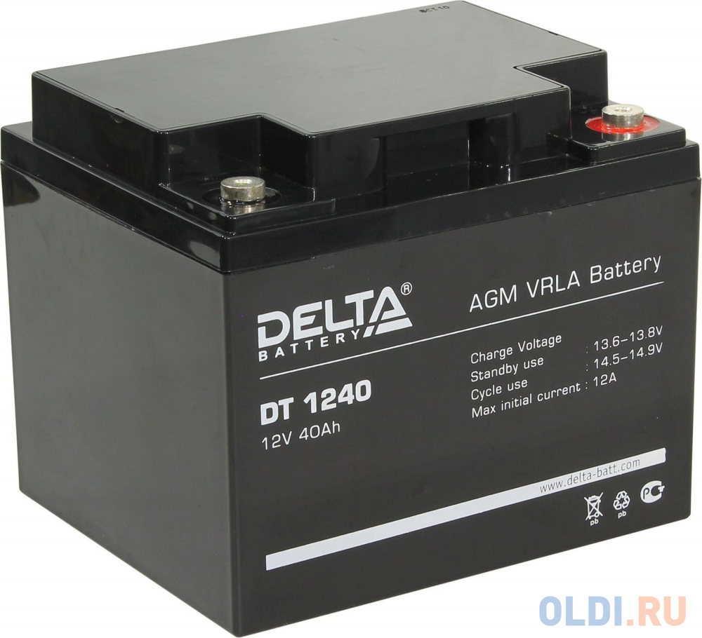 Delta DT 1240 (40 А\\ч, 12В) свинцово- кислотный аккумулятор