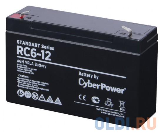 CyberPower Аккумуляторная батарея SS RС 6-12 / 6 В 12 Ач
