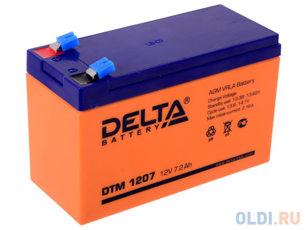 Аккумулятор Delta DTM 1207 12V7.2Ah delta акб delta moto ct 1207 agm ytx7a bs 7ач п п