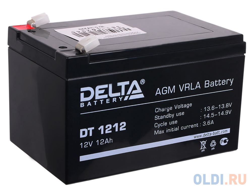 Аккумулятор Delta DT 1212 12V12Ah
