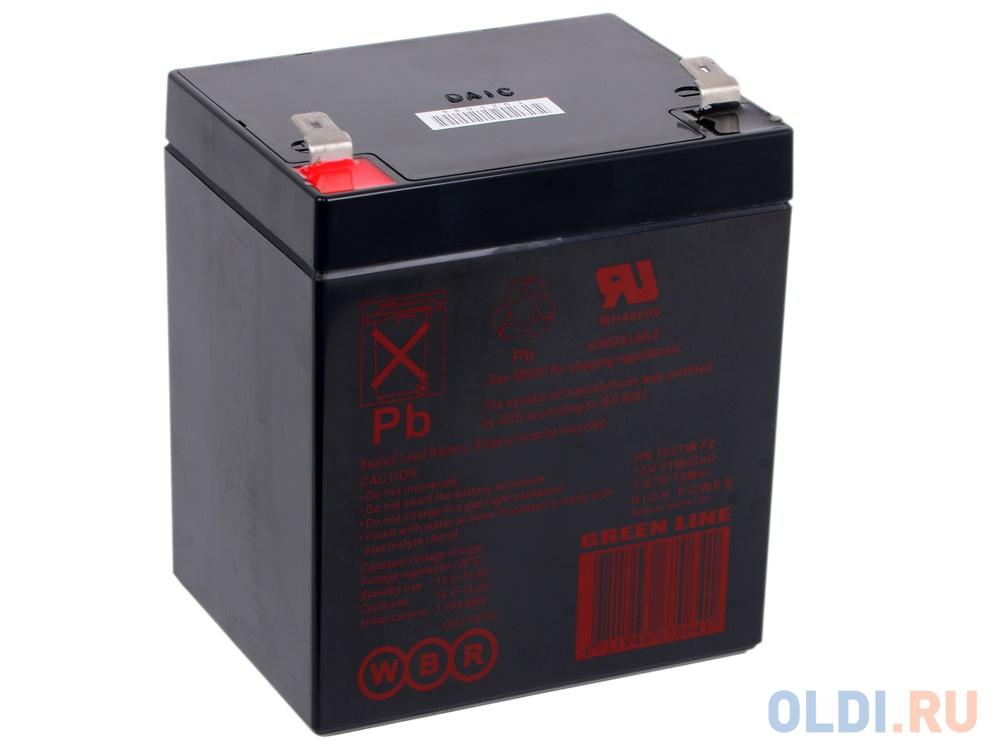 Батарея WBR HR 1221 W F2 CEII 12V/5AH батарея щелочная lr20 2b fu w w