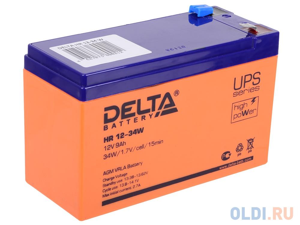 Аккумулятор Delta HR 12-34W 12V9Ah