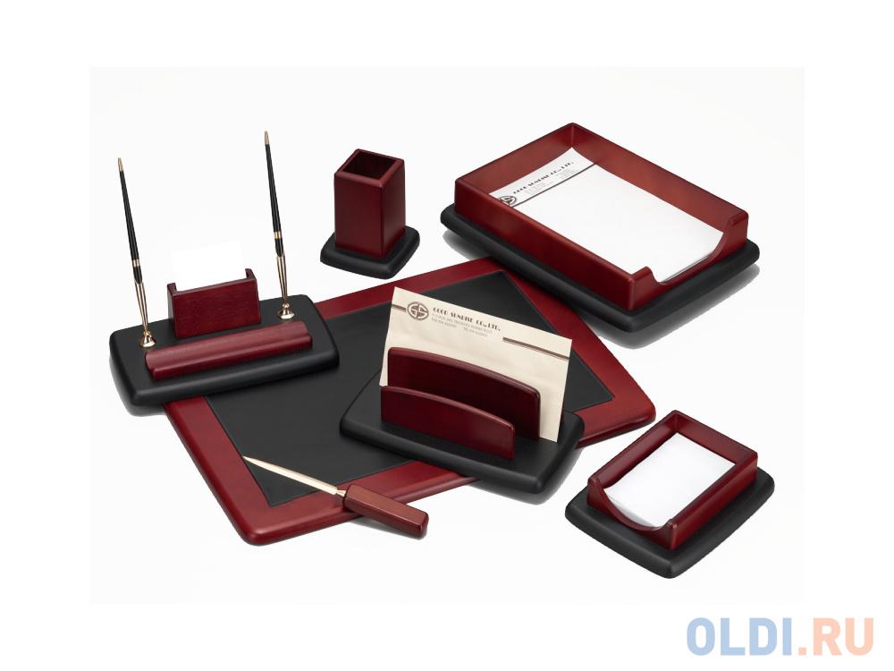 Настольный набор Good Sunrise 7 предметов красное дерево черный M7LF-1.